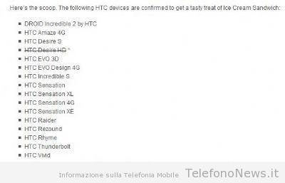 Ufficiale: l'HTC Desire HD non verrà aggiornato con il nuovo android Ics