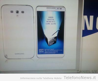 E' veramente questo il nuovo Galaxy Note II??