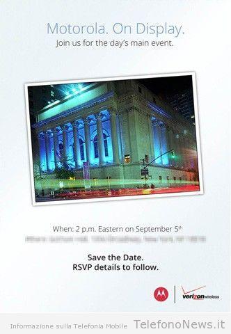 Conferenza Motorola il 5 Settembre: in arrivo il Droid RAZR HD??