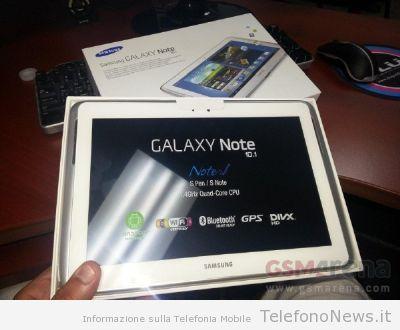 A quanto pare sarebbe già iniziata la distribuzione del Samsung Galaxy Note 10.1?