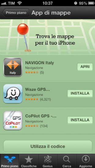Nuova mappe iOS6: su AppStore aperta ufficialmente una sezione per app alternative!