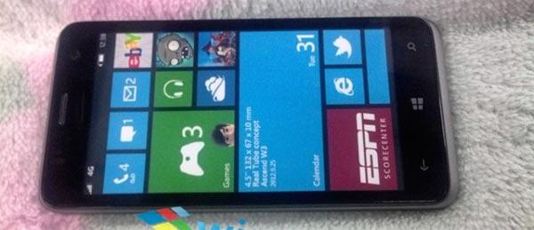 Huawey W2, prime due foto ufficiali del secondo dispositivo Windows Phone 8 della casa produttrice Huawey!!
