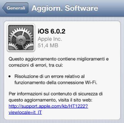 Apple rilascia ufficialmente iOS 6.0.2 per il nuovo dispositivo iPhone 5!!