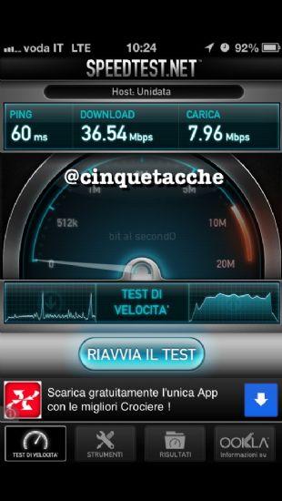 Con il sistema iOS 6.1 beta 5 viene attivato l'LTE su rete Vodafone!!