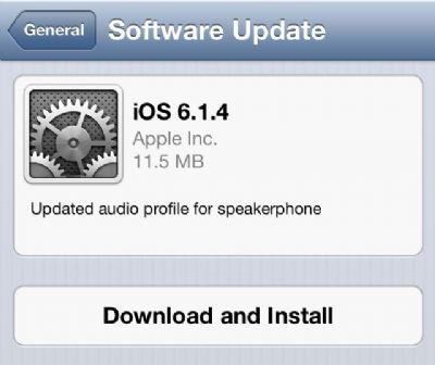 Aggiornamento iOS 6.1.4 di Apple per il suo iPhone 5