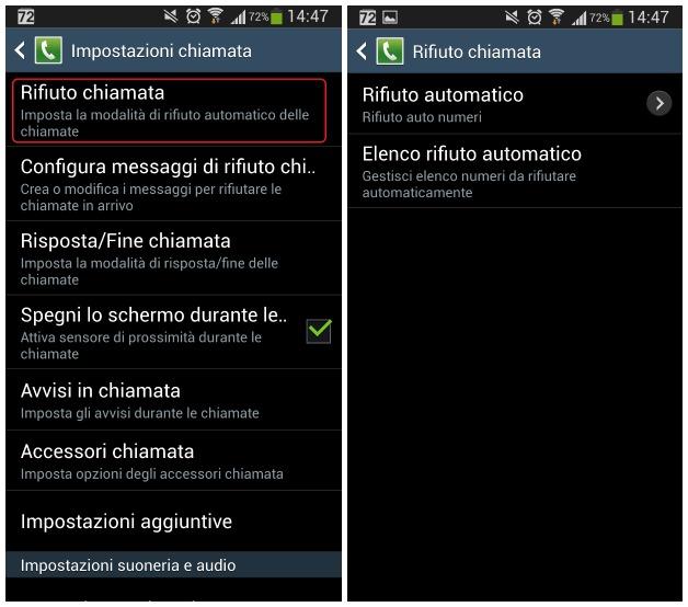 Android: bloccare chiamate con Samsung