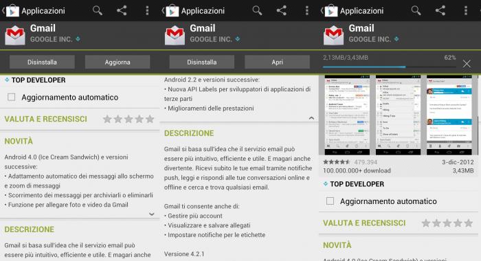 Installazione GMail 4.2