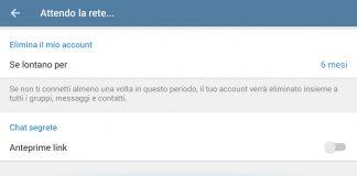 Come eliminare l'account Telegram