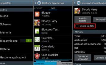 Come rimuovere le notifiche su Android