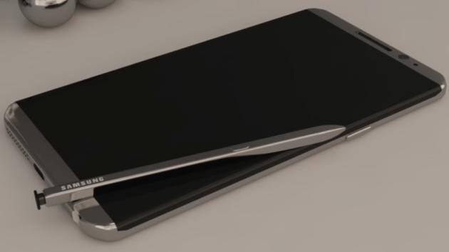Galaxy Note 8, appare un video del pannello frontale