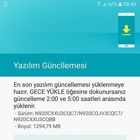 Aggiornamento Nougat Galaxy Note 5
