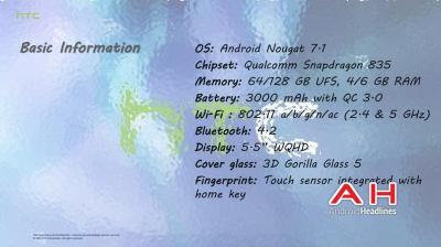 Caratteristiche HTC U