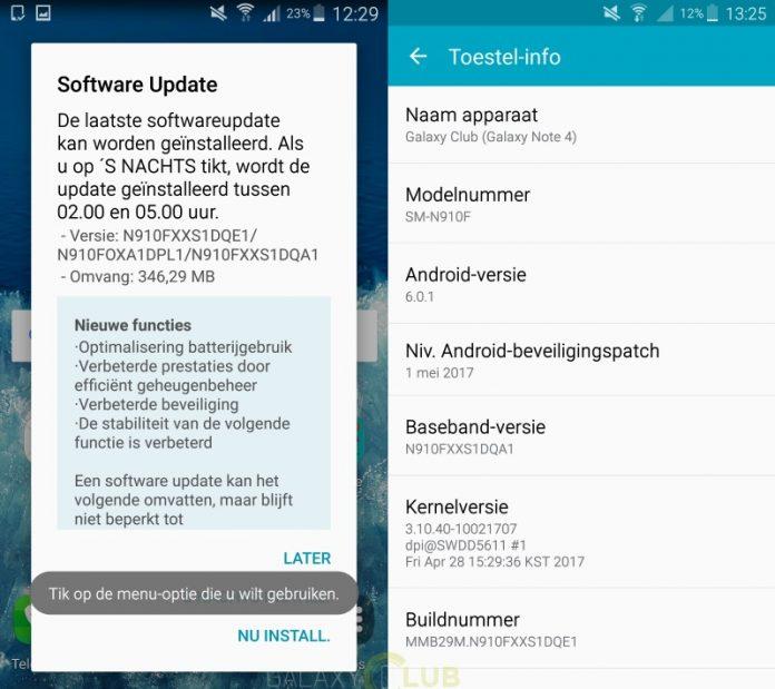 Galaxy Note 4 riceve le patch di sicurezza di maggio in Italia
