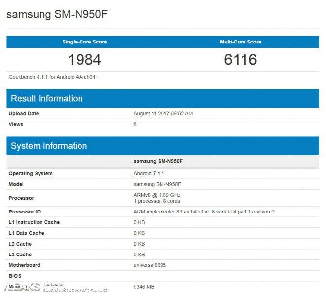 Memoria Ram Galaxy Note 8