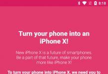Trasformare gli smartphone Android in iPhone X