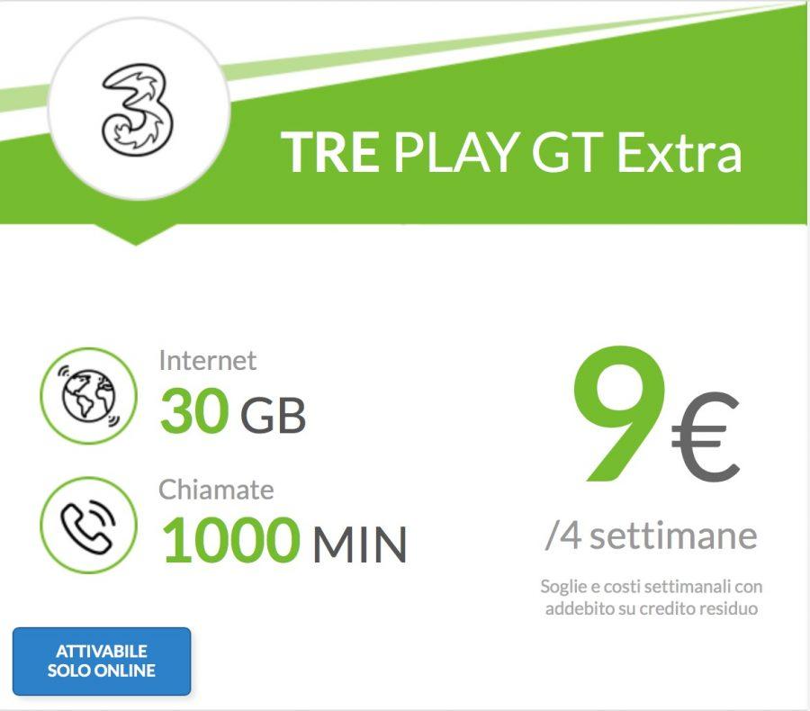 Incredibile promozione di Tre: 30 gb e 1000 minuti a 7 Euro!