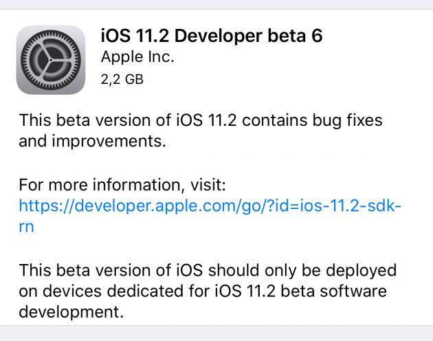 Aggiornamento iOS 11.2 disponibile per iPhone e iPad
