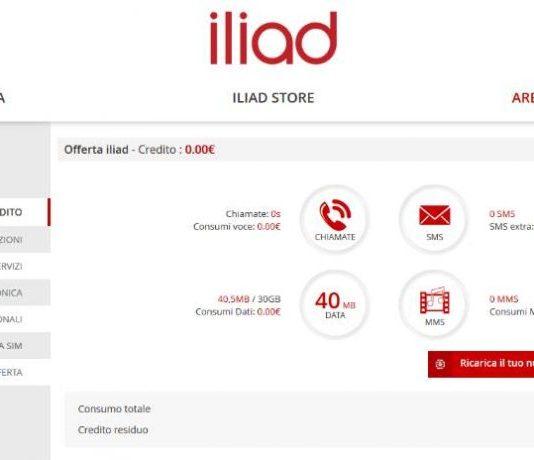 Come controllare credito ILIAD