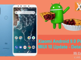 Android 9 Pie per smartphone Xiaomi