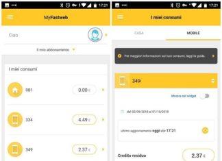 Controllare il credito Fastweb Mobile attraverso app
