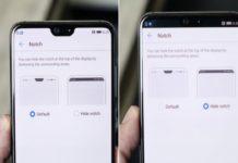 Come eliminare il notch su Huawei P20