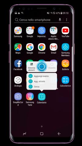 Come aggiungere una app alla Home su Samsung Galaxy S9