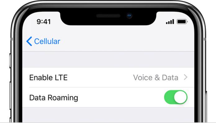 Come collegare iPhone XS a una rete dati del cellulare