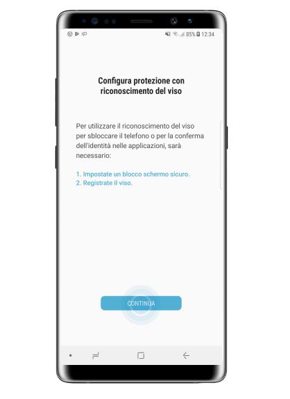 Come sbloccare lo schermo col riconoscimento del viso su Samsung Galaxy Note 8