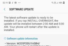 Aggiornamento Samsung Galaxy M20